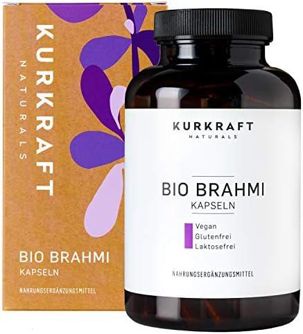 Kurkraft Bio Brahmi - Einführung - (180 Kapseln) - 500mg je Kapsel - Vegan - Ohne Zusatzstoffe - sorgfältig hergestellt in Deutschland