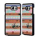 Head Case Designs Cardboard Arrows Tribal Feathers Rose Wooden Back Case Cover For Samsung Galaxy Note5 / Note 5