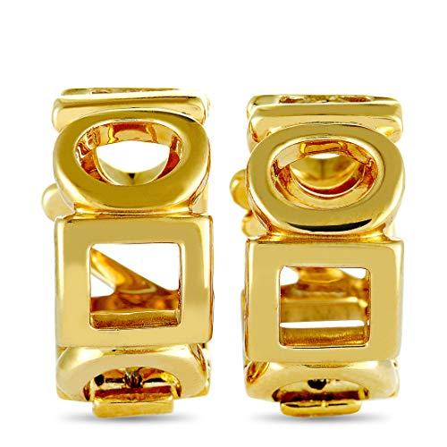 Chanel (Est.) Chanel 18K Yellow Gold Huggie Clip-On Earrings