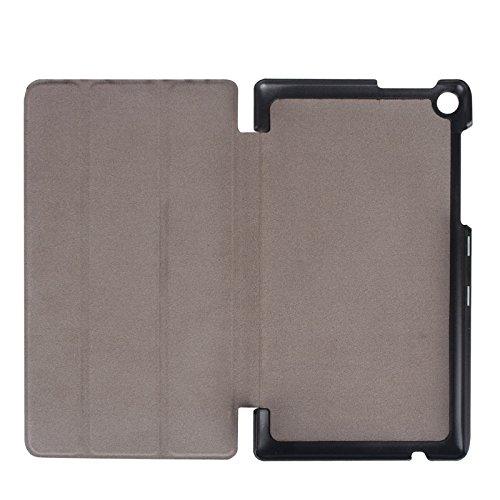 Wkae Case & Cover Karst Textura horizontal del tirón de la caja del cuero del color sólido con el sostenedor de tres plegable para Lenovo Tab 2 A7-20F ( Color : White ) Red