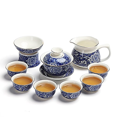 Doble oído del paquete cabe pequeñas té roja té tetera taza de té taza cerámica Kung Fu Kung Fu té