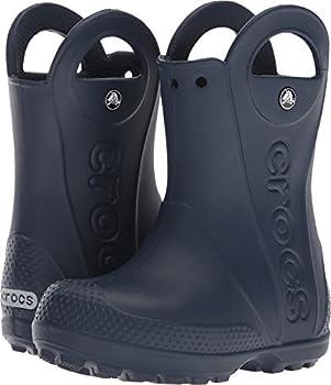 Crocs Unisex-kids Handle It Rain Boots, Navy, 1 M Us Little Kids 0