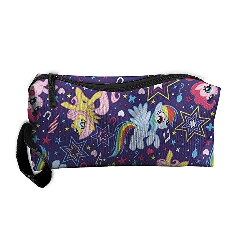 NSDxfckSO195 NEW My Little Rainbow Unicorn Pony Women¡¯s Travel Cosmetic Bags Small Makeup Clutch Pouch Cosmetic And Toiletries (Clutch Pony)