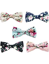 Men's Cotton Bowties Printed Floral Neck Bow Tie