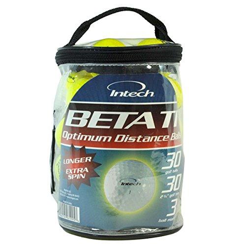 Intech Beta Ti Golf Balls (30 Bonus Pack) (Ti Distance Golf Titanium Ball)