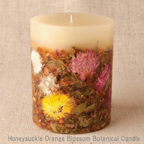 【Rosy Rings ロージーリングス】 Botanical candle キャンドル ハニーサックルオレンジ&ブロッサム B079Z65G85
