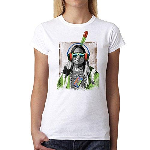 Latidos Nativos Indio Americano Mujer Camiseta XS-2XL Nuevo Blanco