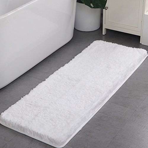 Shaggy Bathroom Rugs,HAOCOO Luxury Bath Shower Mat Carpet Non-Slip,Water Absorbent, Machine-Washable
