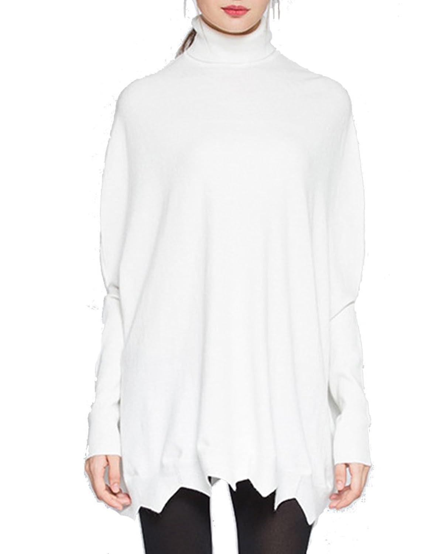 Jersey de Punto Manga Mujer Del Batwing Camisa Blusa SuéterCaliente Casual Pullover Blanco: Amazon.es: Ropa y accesorios