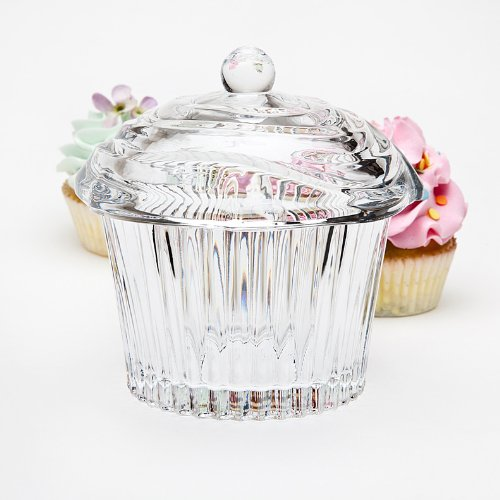 Crystal Cupcake Covered Candy Dish