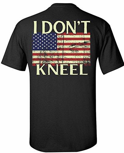 Patriot Apparel I Don't Kneel Don t Tread On Me Gadsden T-Shirt Apparel Do Not (X-Large, Black)