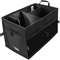 Trunk Organizer for Car Storage - Organizers Best for SUV Truck Van Auto Accessories Organization Caddy Bag - Front or Back-Seat Vehicle Sedan Interior Collapsible Bin Automotive Grocery Organize Box