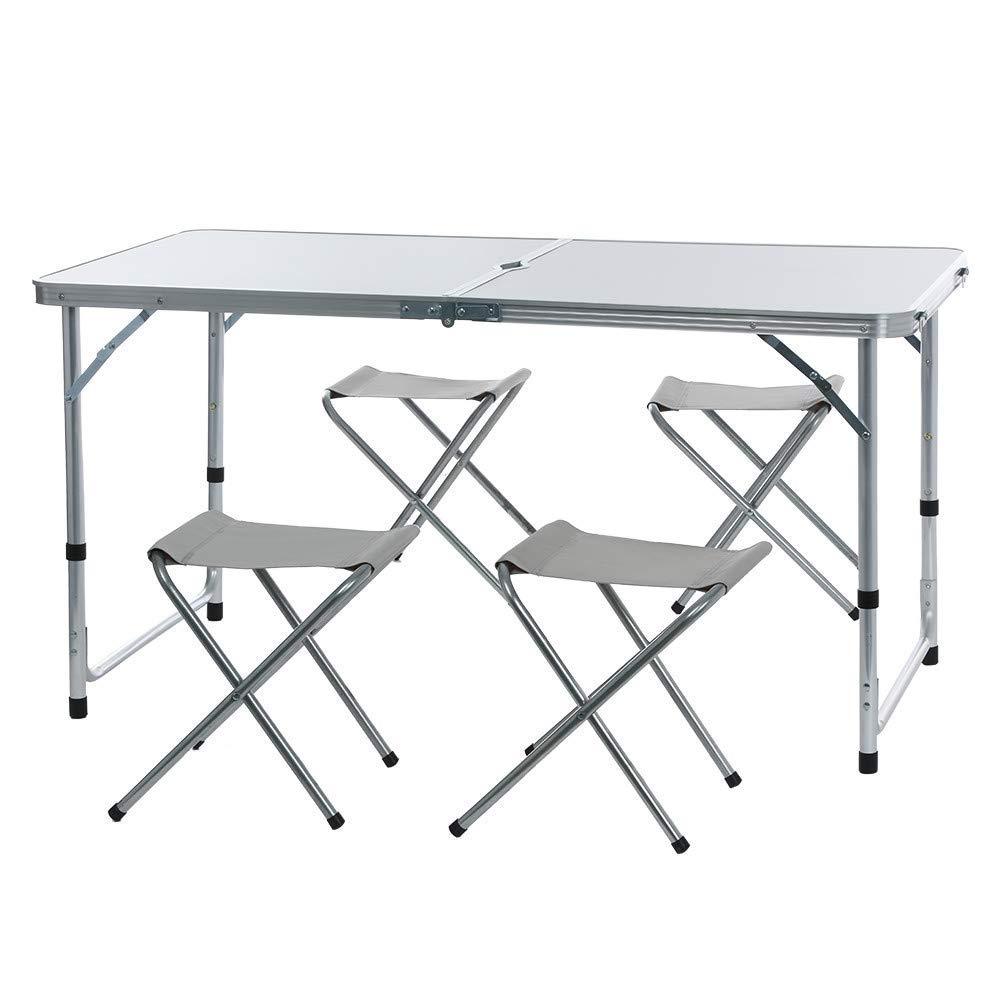 WULIHONG-CampingtischOutdoor Klapptisch Stuhl Camping Aluminiumlegierung Picknicktisch Wasserdicht Ultraleichter, langlebiger Klapptisch Schreibtisch