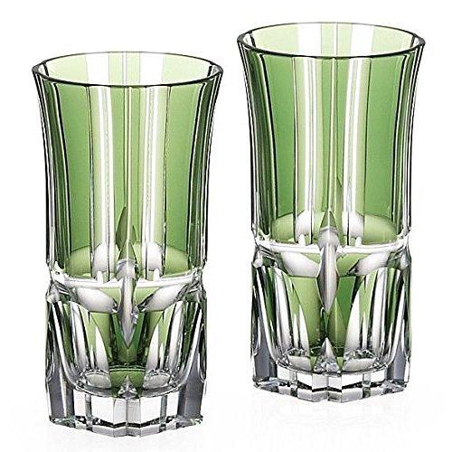 Kagami Crystal creative facet ' bamboo Zen ' pair bite beer glass # 2511