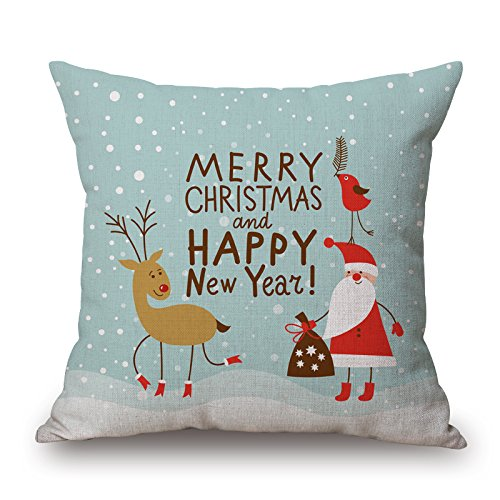 [Uloveme The Christmas Pillow Covers Of ,16 X 16 Inches / 40 By 40 Cm Decoration,gift For Club,indoor,couples,pub,dance Room,dining Room (double] (Diy Sushi Dog Costume)