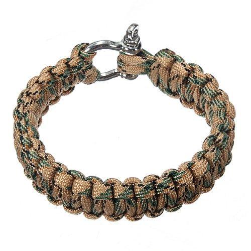 Bracelet 550 PARACORDE de survie Parachute Tressage Réglable Boucle Acier TOOGOO(R)