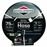 Briggs and Stratton 8BS75 75-Foot Premium Heavy-Duty Rubber Garden Hose