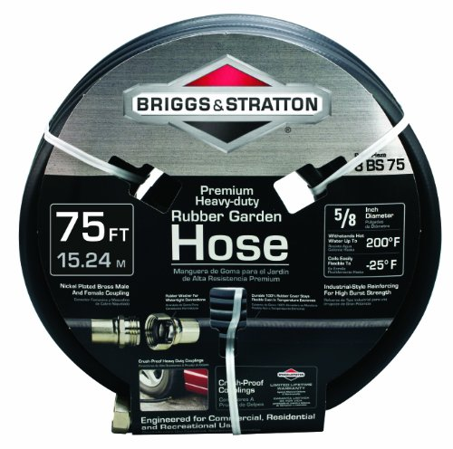 (Briggs and Stratton 8BS75 75-Foot Premium Heavy-Duty Rubber Garden Hose)