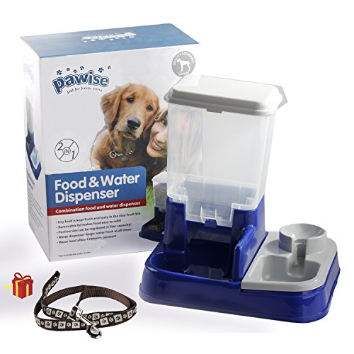 Pawise Replenish Gravity Food & Waterer Dispenser Pet Feeder Dog Waterer