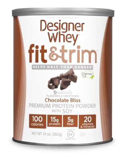 DESIGNER WHEY Fit et garnitures haut de gamme avec Soy Protein Powder, Chocolate Bliss, 10 once