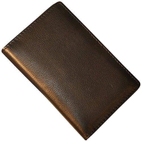 (Budd Leather Calf Passport Cover, Black)