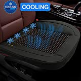 Cooling Car Seat Cushion,12V Beaded Seat Cover Edge Wrapping Seat Covers Universal Fit Seat Cushion Ventilate Breathable Air Flow for Auto Supplies Home Office Chair in Hot Summer(Black)