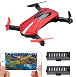 BLACK FRIDAY DEAL! Contixo F8 Foldable Pocket Size Selfie Drone Voice Controls 720P HD Wifi Live FPV Video Camera 360 Stunts 8-10min Fly Time 6-axis Gyro Gravity Control 2 Batteries