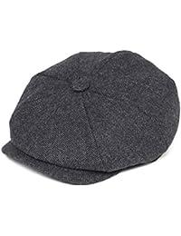 Men s 8 Piece Wool Blend Newsboy Flat Cap Herringbone Pattern in Classic 5  Colors dfdaf314f261