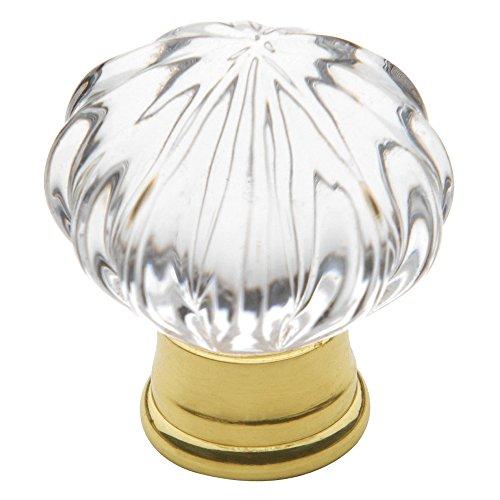 Baldwin Estate 4326.030 Round Crystal Cabinet Knob in Polished Brass, 1