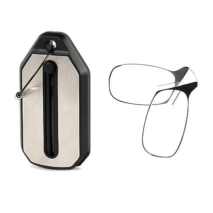 Encoco - Llavero con gafas de lectura, portátil, nariz, clip ...
