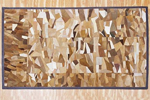 Indian Handmade Doormat Contemporary Leather Welcome Mat Shag Living Room Doormat 153 X 239 cm Brown Front Floor Doormat ()