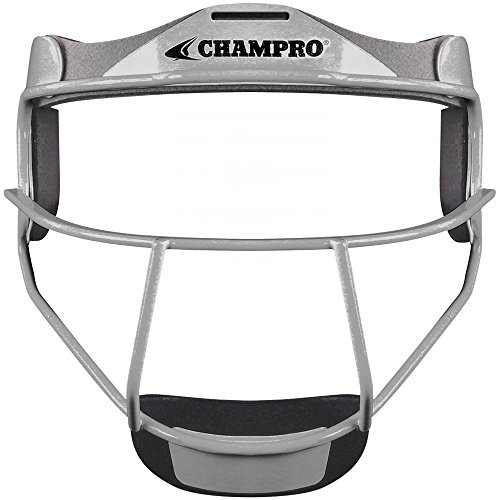- CHAMPRO CM01 FIELDERS FACE MASK SOFTBALL CP Athletic Heather YOUTH6.25-6.75