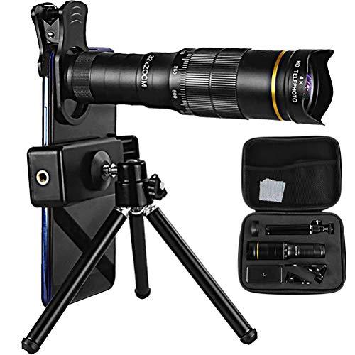 32X Monocular Telescope, Waterproof Fogproof Monocular Day and Low Night Vision Monocular with Smartphone Holder, Tripod…