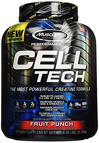 Celltech Hardgainer Creatine Formula - Fruit Punch 6 lbs Pwdr