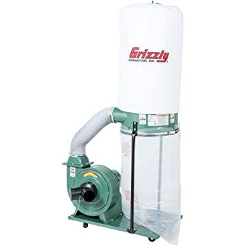 Grizzly G1028z2 1 1 2 Hp Dust Collector Vacuum And Dust Collector