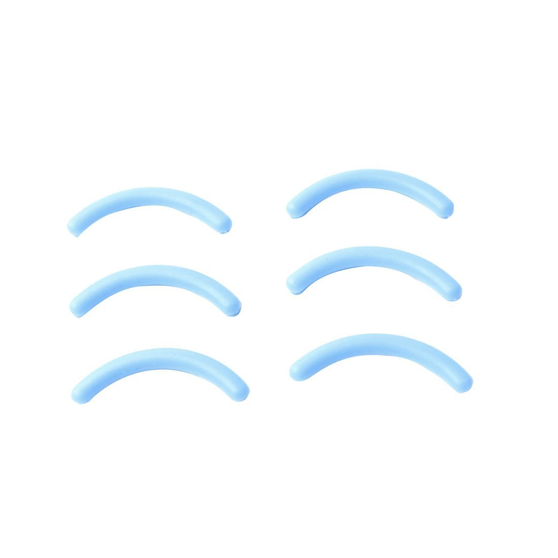 Sourcingmap Rubber Lady Cosmetic Makeup Eyelash Curler Pads, Baby Blue - 6-Piece a13071200ux1066