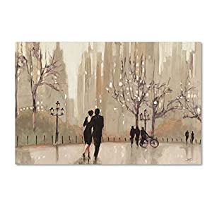 Trademark Fine Art An Evening Out Neutral Artwork by Julia Purinton, 30 by 47-Inch