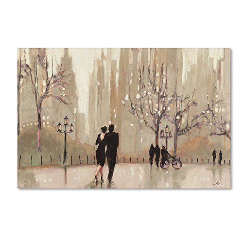 An Evening Out Neutral Artwork by Julia Purinton, 16 by 24-Inch Canvas Wall Art