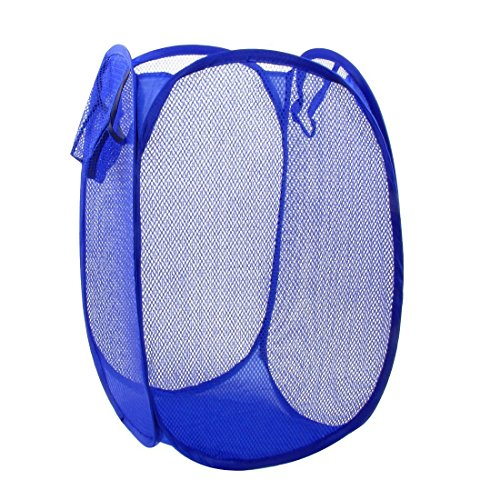 et Deluxe Pop Up Mesh Hamper Clothes Sorter Folding Storage Tote Bag Case Open Bin - Multi Use for Toys Dirty Tidy Clothes Socks Underwear Bra Lingerie Royal Blue (Deluxe Organizer Tote Bag)