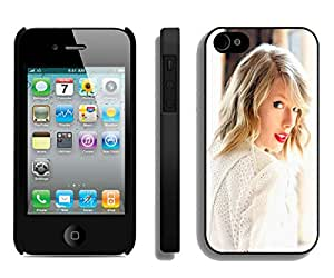 Custom Luxury Cover Case With Taylor-Swift-In-White-640x1136 Black iPhone 4S Case
