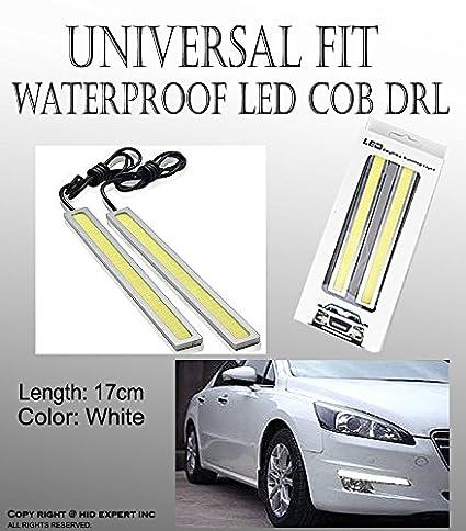 Amazon.com: 2pcs COB 17cm White LED car DRL Fog Lamp Daytime Running ...