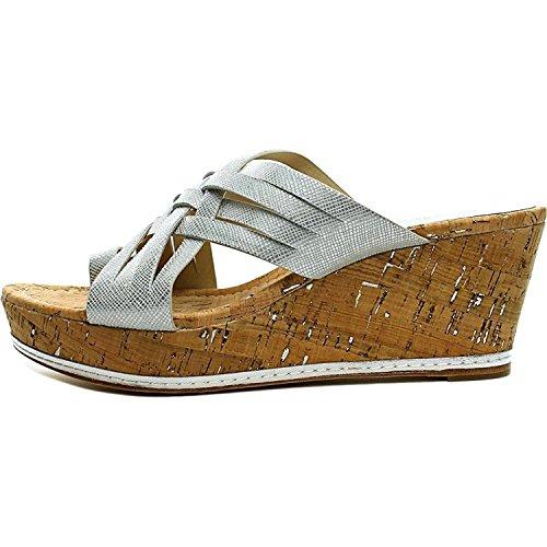 Casual Womens Platform Toe Metallic Flore Open Donald Textured Pliner Silver J Sandals HZUwCYnqp