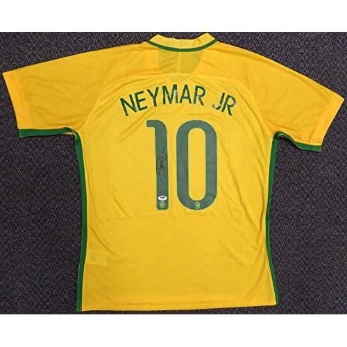 best website 35eac 6a08e Neymar Jr. Autographed Brazil Brasil CBF Nike Authentic ...