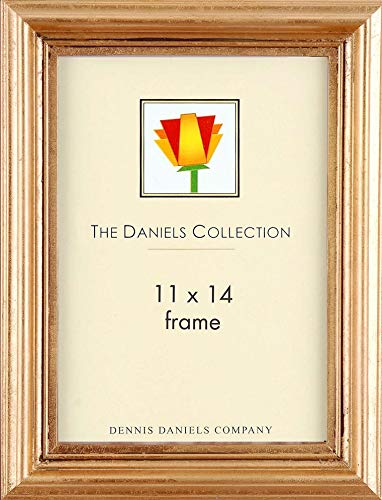 Wide ridged gold-leaf wood has a Renaissance look and feel by Dennis Daniels® - 11x14 ()