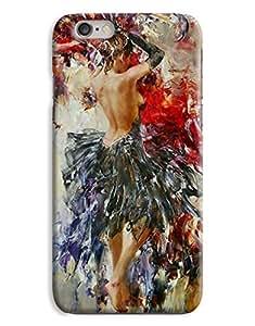 Contemporary Design lady Art Painting Paint Beautiful Romantic Design iPhone 6 Plus Hard Case Cover