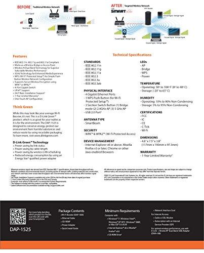 D-Link DAP-1525 Wireless Dual Band Gigabit Media Bridge & Access Point