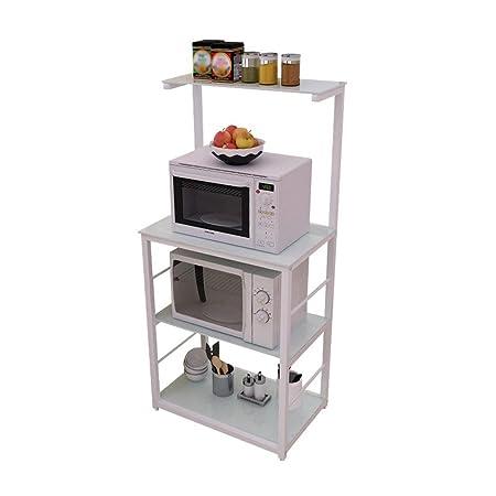 DZW Estante de Cocina 4 Piso Horno de microondas Rack ...