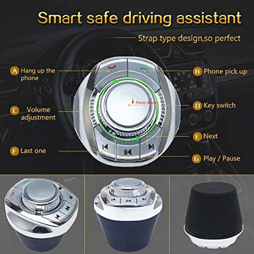 Cup Shape Car Wireless Steering Wheel Control Button For Car Android GPS Player
