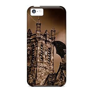 Defender Cases For Iphone 5c, Gargoyle House Pattern