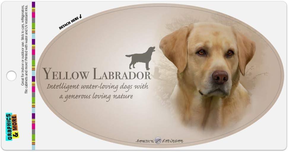 Labrador Retriever Magnet Yellow